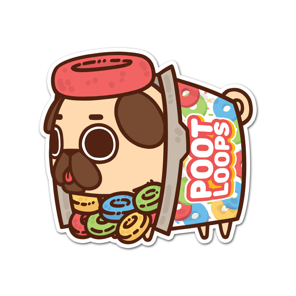 Puglie Poot Loops Sticker