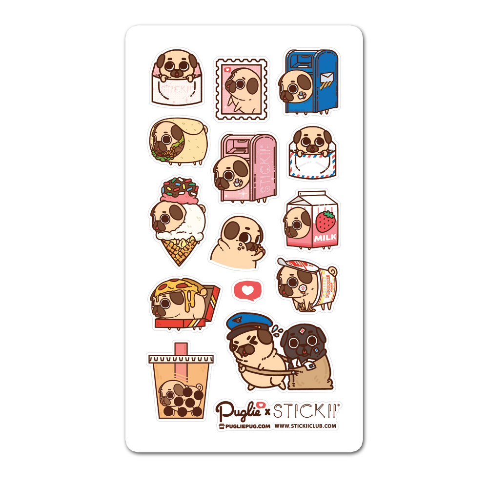Puglie x Stickiiclub Sticker Sheet