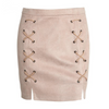 Image of Lace Up Suede Mini Skirt