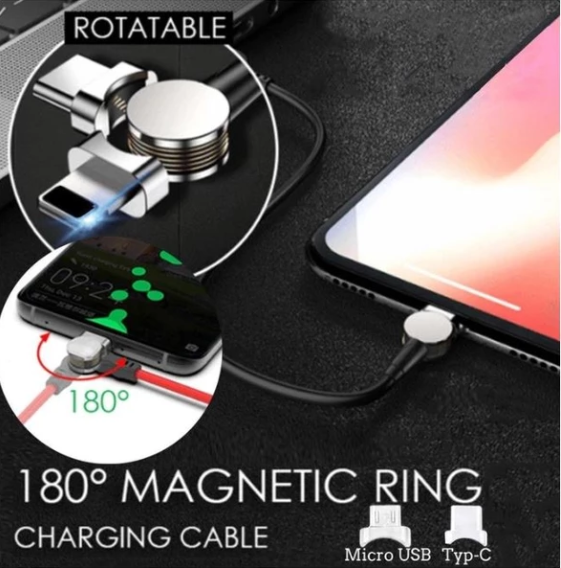 180° Magnetic Cable 3.0 (For iPhone & Android)
