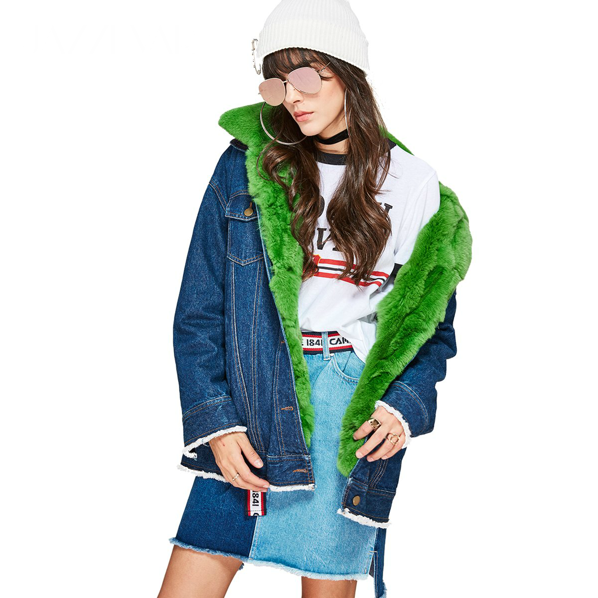 SWAGGY Denim Winter Jacket