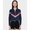 Image of Autumn Varsity Striped Zipper Jacket