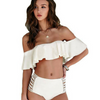Image of Falbala Bandeau High-Waist Bikini Set