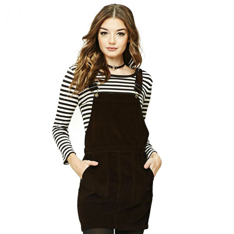 Autumn Overall Dress