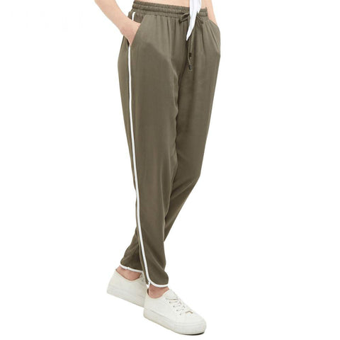 Olive Lounging Track Pants
