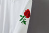 Image of Casual Embroidered Rose Sweater