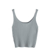 Image of Casual Knit Crop Tank Top