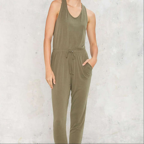 Casual Cross Back Jumpsuit