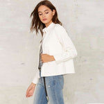 White Slim Casual Jacket