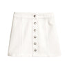 Image of White Button Line Mini Skirt
