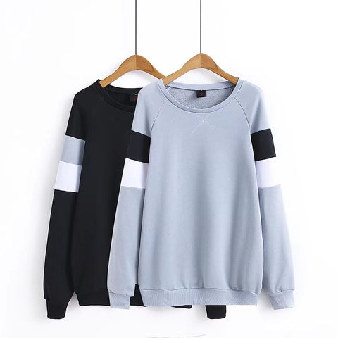 Pullover Striped Sleeve Sweater