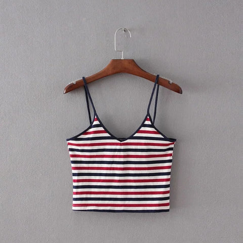 RWB Striped Crop Top