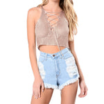Lace Up Bandage Crop Top