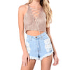 Image of Lace Up Bandage Crop Top