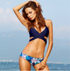 Image of Flower Blue Bikini Set