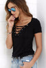 Image of V-NECK LACED TOP