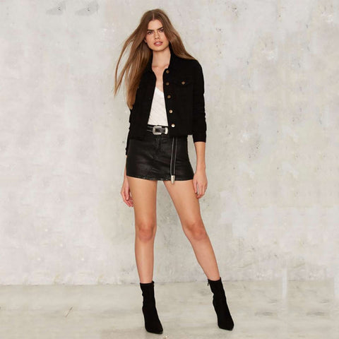 Black Slim Casual Jacket