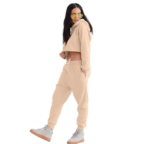 2-Piece Warm Crop Top Jumpsuit