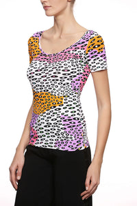 T-Shirt Lycra  Camouflage Tropicale
