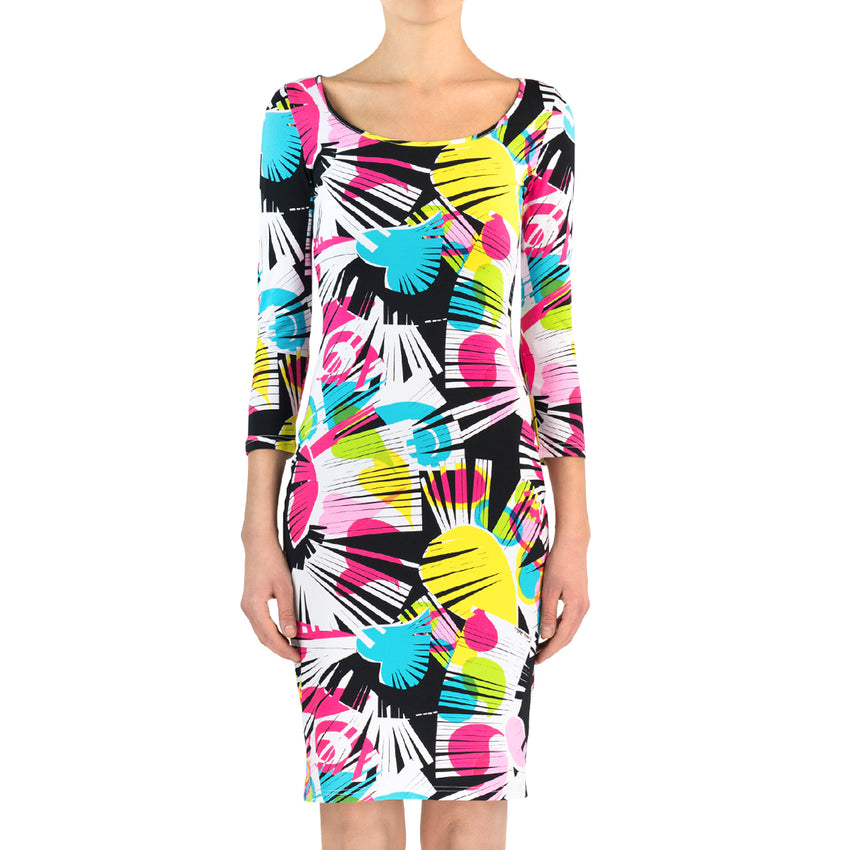 Frange Lycra Dress - Sleeves