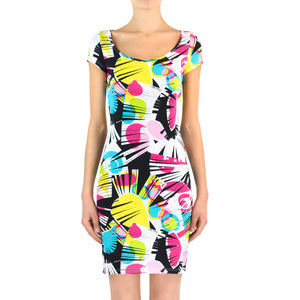 Frange Lycra Dress - Short Sleeves
