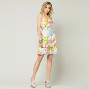 Tropical Flower Short Dress