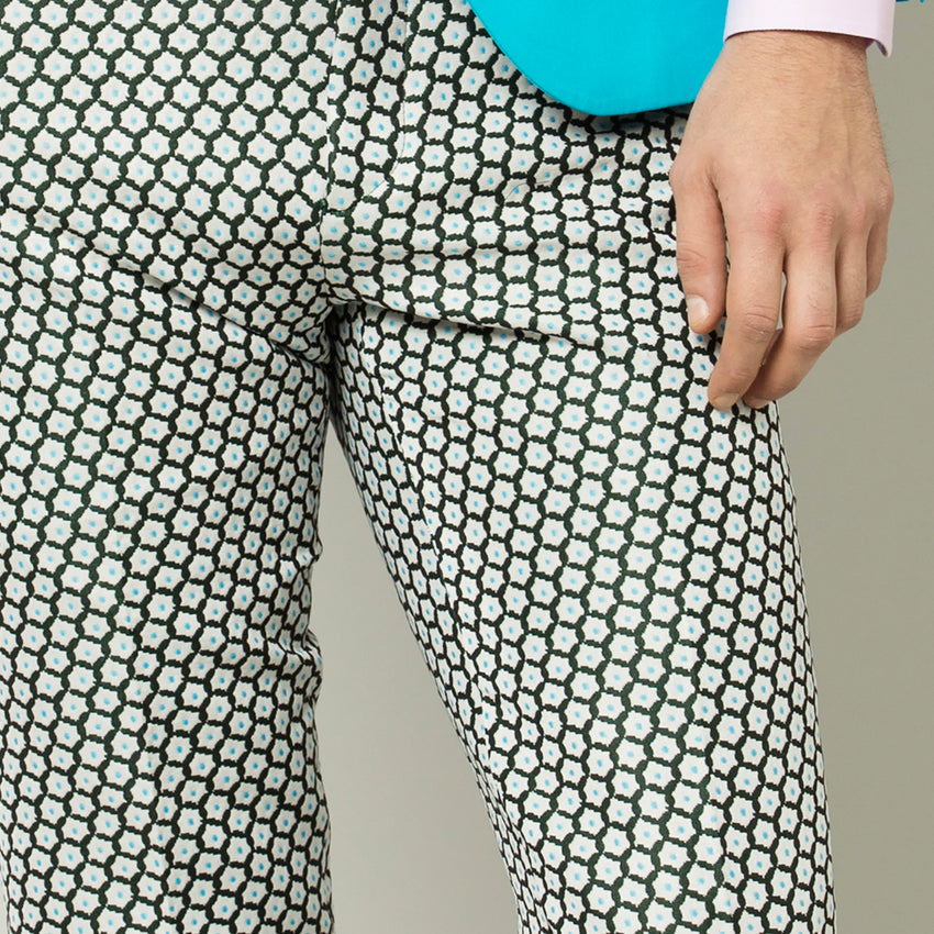 Torquoise Pois Trousers