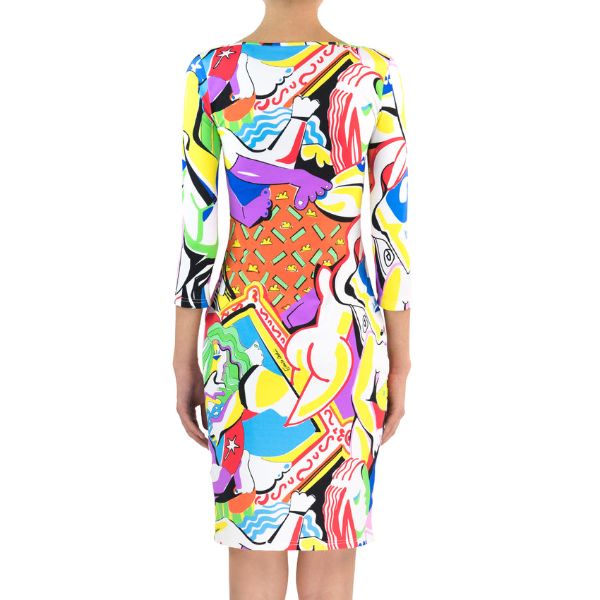 Picasso Lycra Dress - Sleeves