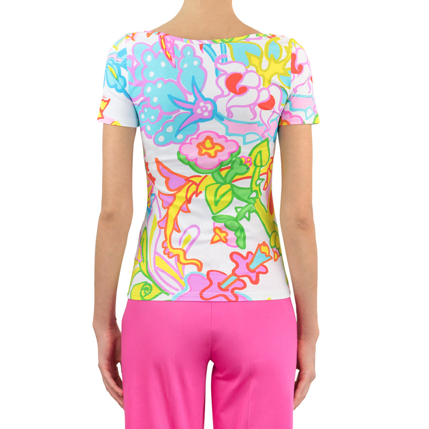 Tropical Flower Lycra T-Shirt