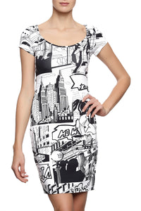 Comic Strip Lycra Dress