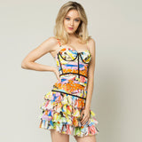 Picasso Ruffles Dress