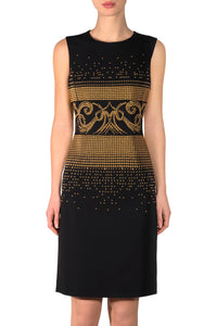 Golden Studs Black Dress