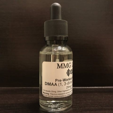 Pure DMAA (1,3-dimethylamylamine) 25mg/ml x 30ml Pre-Workout Amplifier