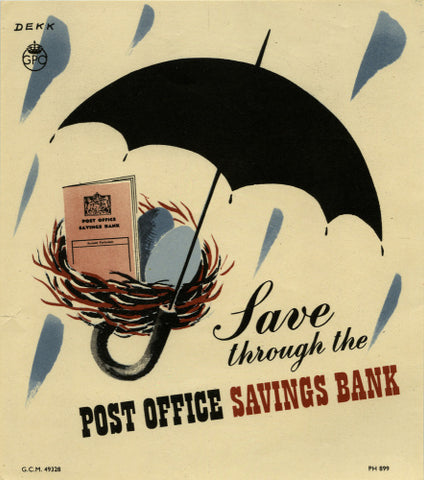 Save through the Post Office Savings Bank