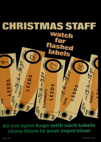 Christmas staff - watch for flash labels