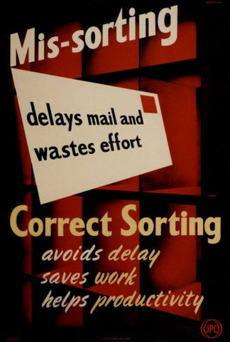 Mis-sorting delays mail and wastes effort