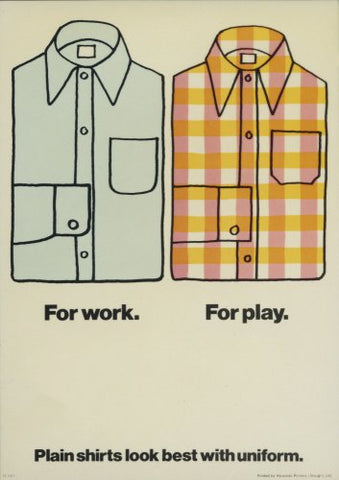 Shirts - Internal poster advising on dress code