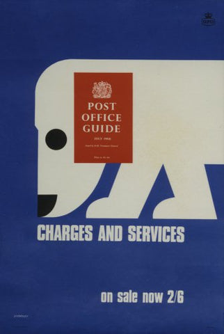 The 'Post Office Guide July 1968'. Charges and services. On sale now 2'6