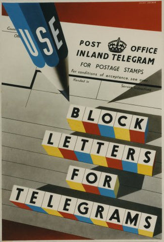 Block Letters for Telegrams