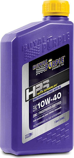 ROYAL PURPLE LTD // ***Discontinued***Royal Purple HPS 10W-40 High Performance Street Synthetic Motor Oil with Synerlec - 1 Quart Bottle - ProStreet Motorsports