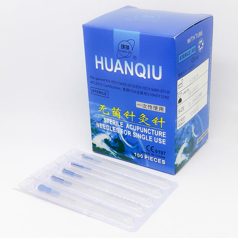 Huanqiu Acupuncture Needles and box (0.16- 0.20 Gauge)
