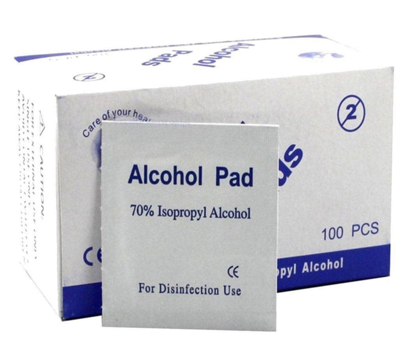 Alcohol Swabs 70% Isopropyl (100 Single-Fold Swabs)