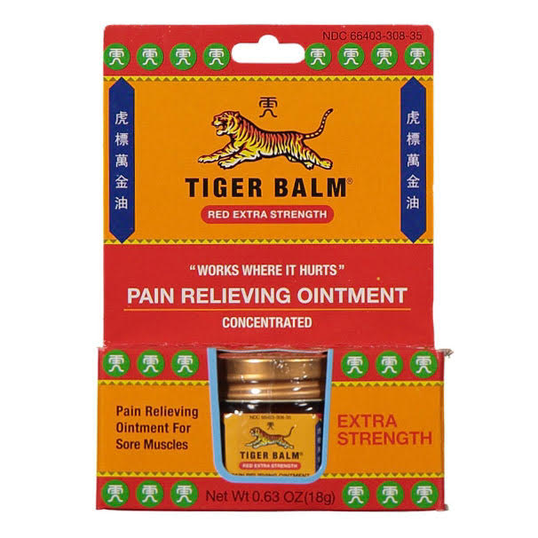 Tiger Balm Extra Strength Red Ointment (18g) box | TCM Supplies NZ