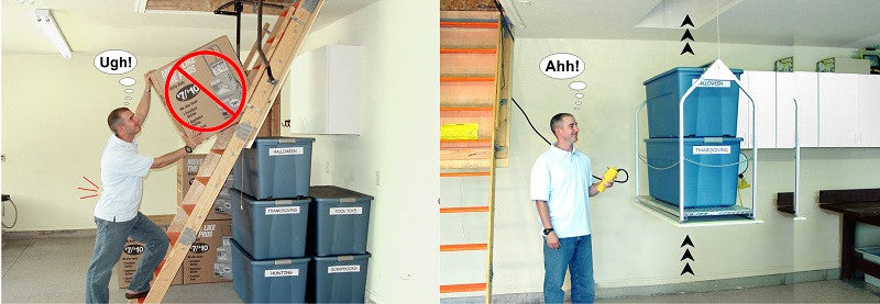 attic ladder and guy