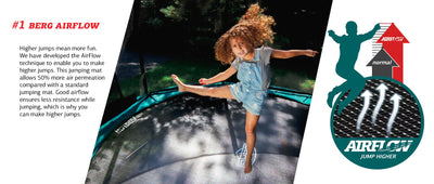BERG GRAND ELITE 520 INGROUND TRAMPOLINE + SAFETY NET DELUXE
