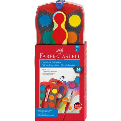 Faber Castell Connector Paint Box 24 Colours + Brush