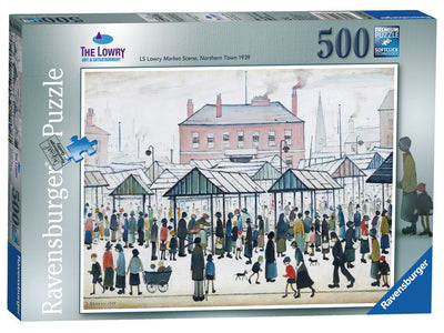 Ravensburger: Lowry Market Scene North, 500pc Jigsaw Puzzle