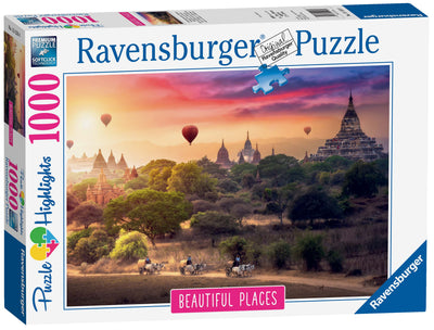 Ravensburger Hot Air Balloons Over Myanmar, 1000pc Jigsaw Puzzle