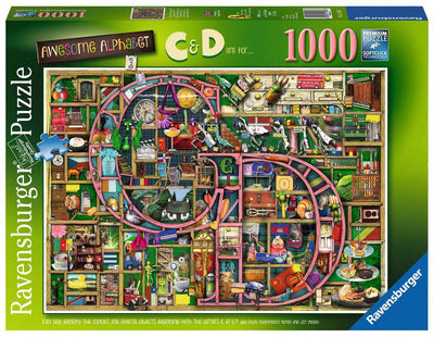 Ravensburger Colin Thompson - Awesome Alphabet 'C&D', 1000pc Jigsaw Puzzle