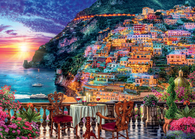Ravensburger Dinner in Positano, Italy, 1000pc Jigsaw Puzzle